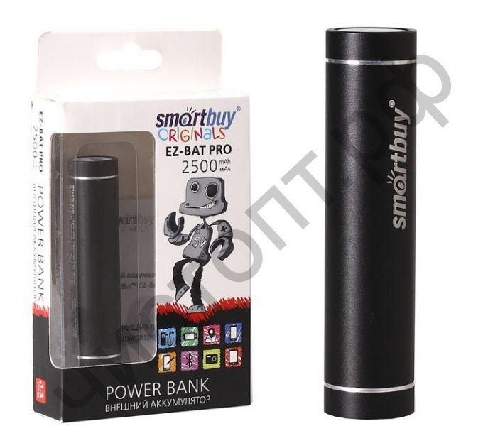Моб. заряд. устрой. SmartBuy® EZ-BAT PRO, 2500 мАч, черн (SBPB-2000) Power bank