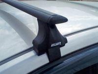Багажник на крышу Audi A6 IV (C7) 2011-2018, Атлант, крыловидные аэродуги (черный цвет)