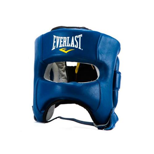 Шлем для бокса Everlast Elite Leather LXL син. артикул P00000681 LXL BL