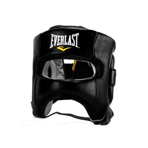 Шлем для бокса Everlast Elite Leather LXL чёрный артикул P00000681 LXL BK