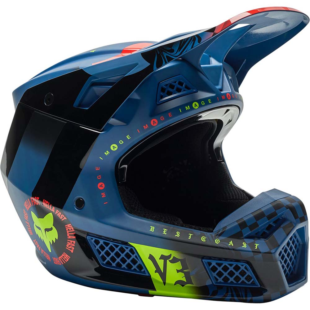Fox V3 RS Mawlr Dust Blue шлем