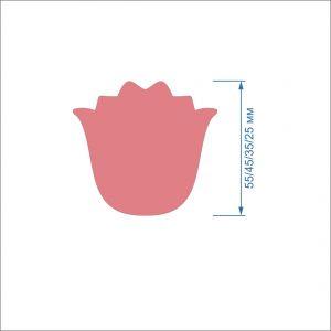 Заготовка ''Тюльпан-4'' , фетр 1 мм (1уп = 5наборов)