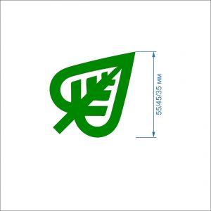 Заготовка ''Лист с вырезом-2'' , фетр 1 мм (1уп = 5наборов)