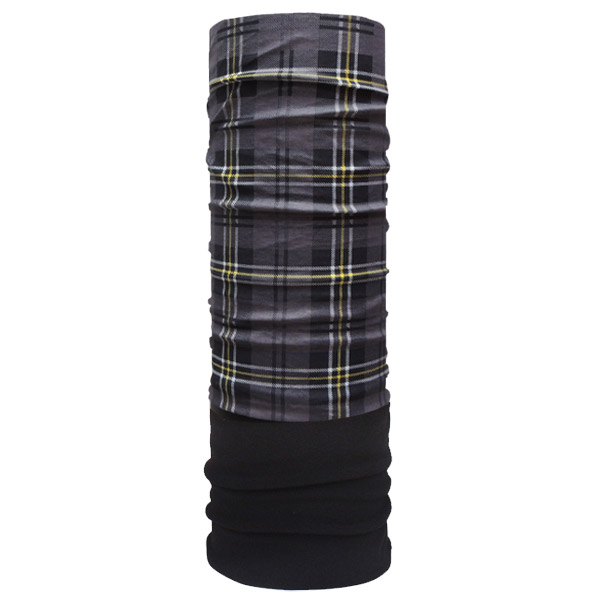 Зимний шарф в серый клетку