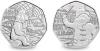 Медвежонок Паддингтон на станции 50 пенсов Великобритания 2018 набор из 2 монет