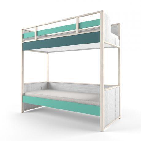 Кровать 2х-ярусная универсальная розовая «Нью тон»