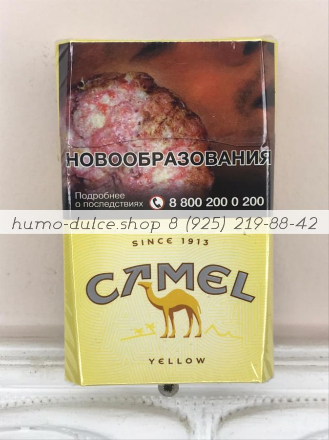 Camel Yellow (Кемэл Жёлтый) от 1 коробки (50 блоков)