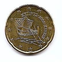 50 евроцентов Кипр 2008 регулярная из обращения