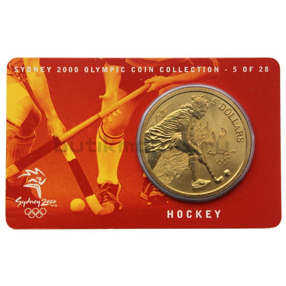 5 долларов 2000 Австралия Хоккей на траве (Олимпийские игры в Сиднее)