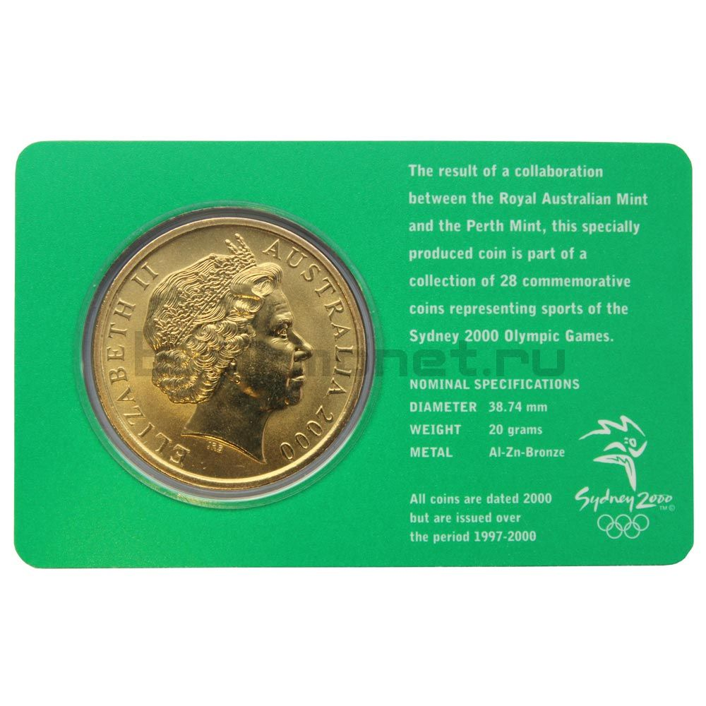 5 долларов 2000 Австралия Стрельба (Олимпийские игры в Сиднее)