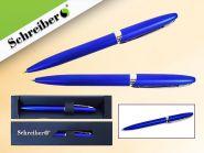 Ручка шариковая в футляре, синий цвет корпуса, синие чернила (арт. S 3526)