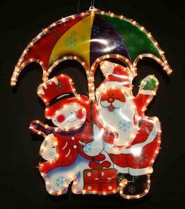 """Фигура """"Дед Мороз с зонтиком и Снеговик"""" (65х55 см)"""