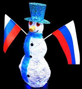 Снеговик  60 см (работа от батареек)