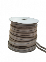 Резинка с просечкой, толщина 0,8 мм, бежевая