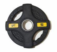 Диск олимпийский обрезиненный черный Original Fittools FT-2HGP-5 5 кг