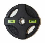 Диск олимпийский обрезиненный черный Original Fittools FT-2HGP-20 20кг