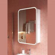 Зеркальный шкаф Alavann Lana 55, свет белый холодный