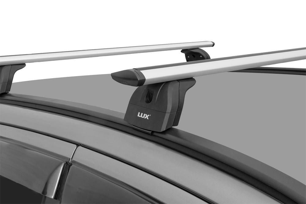 Багажник на крышу Suzuki SX4 II 2013-..., Lux, крыловидные дуги на интегрированные рейлинги