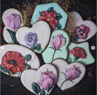 'Объемные цветы' из глазури (Виктория Бредис)