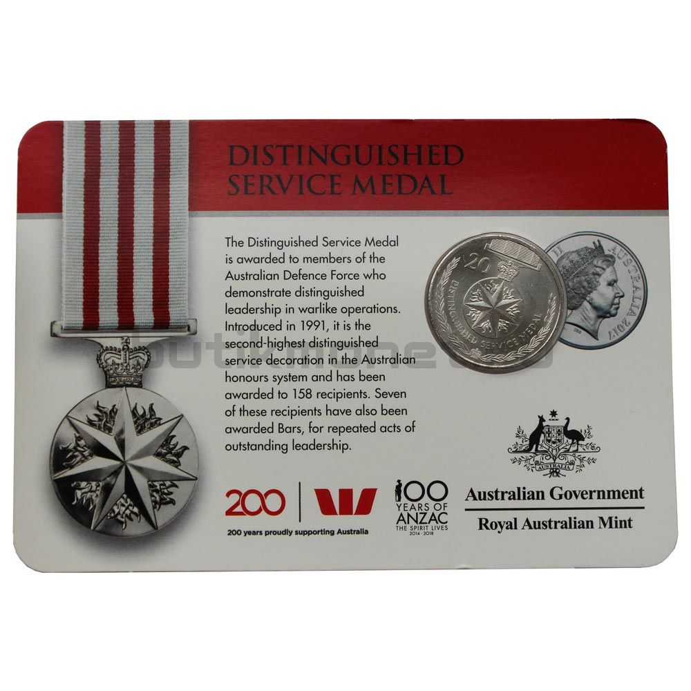 20 центов 2017 Австралия Медаль за отвагу (Медали почёта)