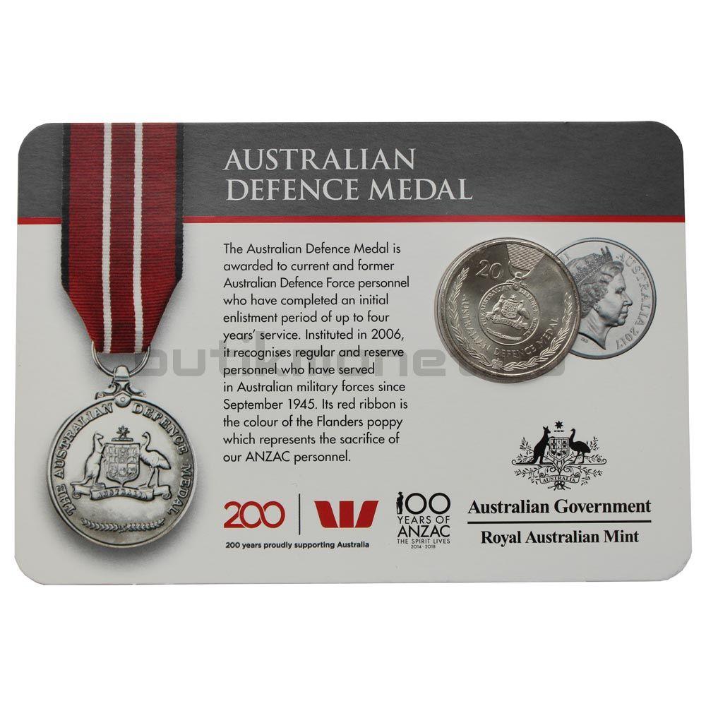 20 центов 2017 Австралия Медаль министерства обороны (Медали почёта)
