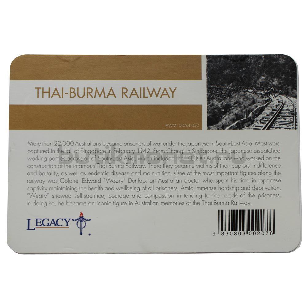 20 центов 2016 Австралия Тайско-Бирманская железная дорога (От АНЗАК до Афганистана)