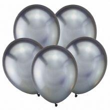 """Тёмное серебро, Зеркальные шары, 12"""", 50 шт (Турция)"""