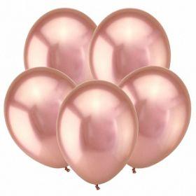 """Розовое золото, Зеркальные шары, 12"""", 50 шт (Турция)"""