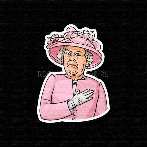 Деревянный значок Королева