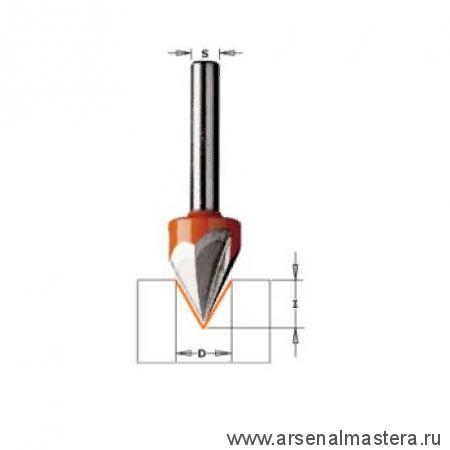 CMT 958.001.11 Фреза концевая для гравирования и декорирования D12,7 I11 S8 L57