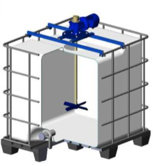 Мешалка для ЕВРОКУБА с комплектом креплений