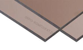 "Монолитный поликарбонат ""Карбогласс""3мм. Цвет:бронзовый, молочный. Размер: 2,05*3,05м"