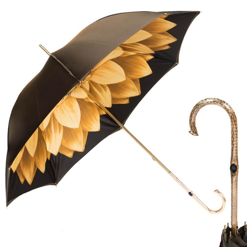 Зонт-трость Pasotti Becolore Georgin Giallo Oro
