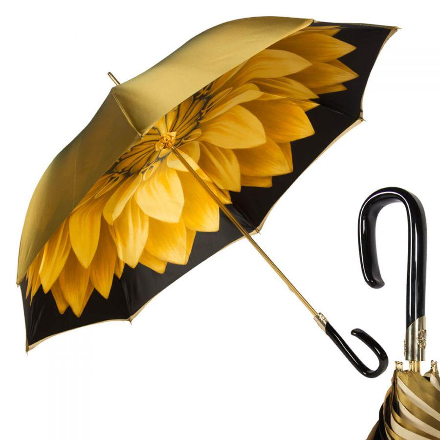Зонт-трость Pasotti Bicolore Georgin Giallo Plastica Fiore