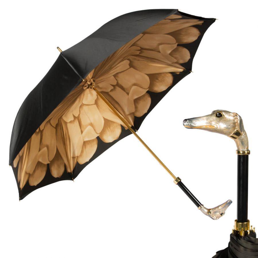 Зонт-трость Pasotti Nero Georgin Beige Hound