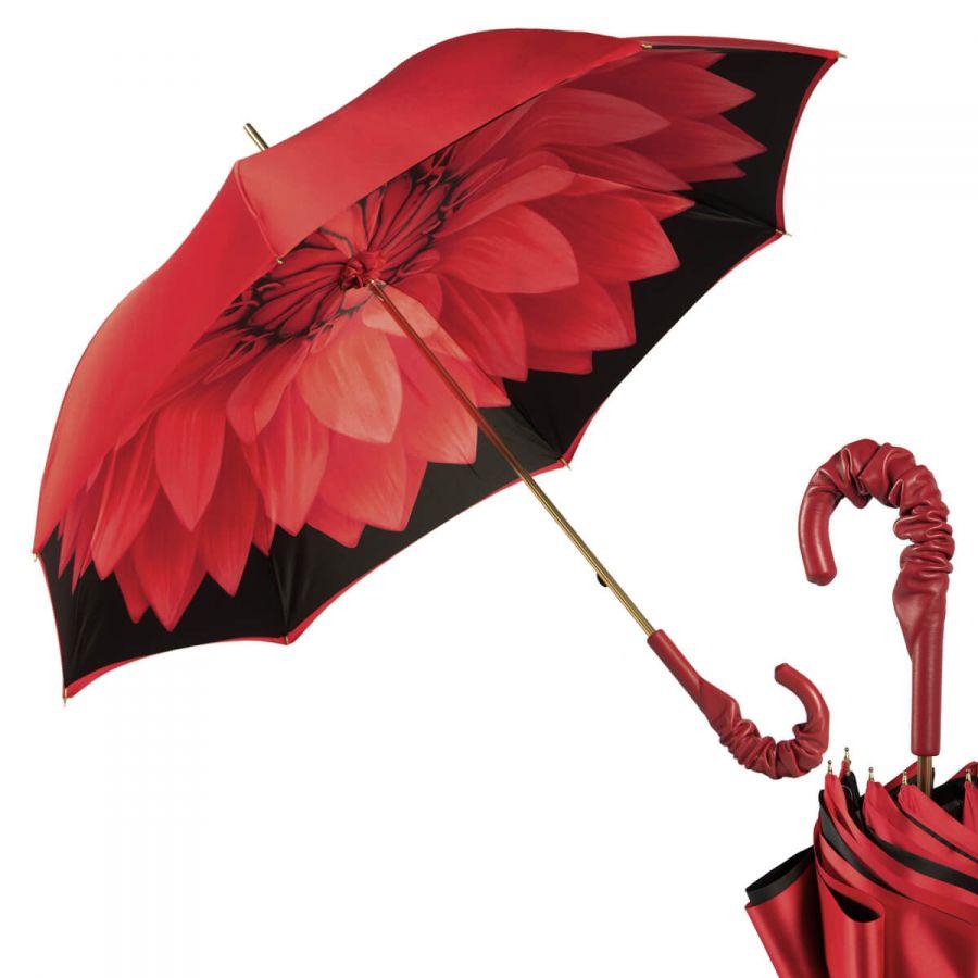 Зонт-трость Pasotti Rosso Georgin Pelle