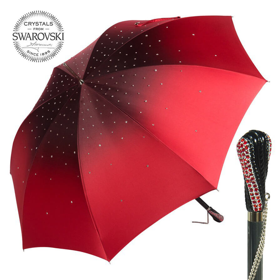 Зонт-трость Pasotti Swarovski Rosso