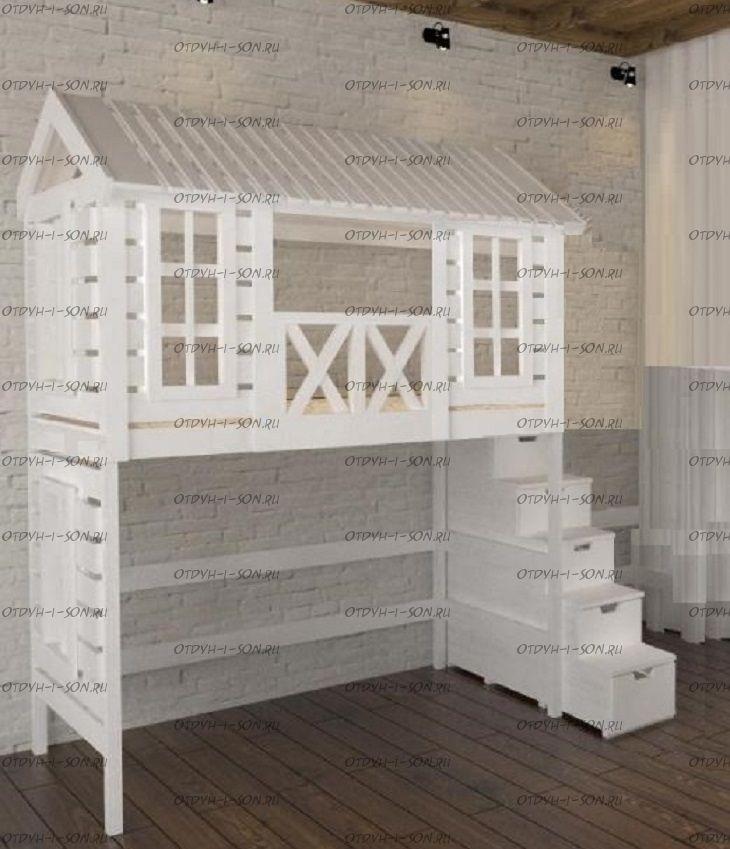 Кровать-чердак Домик Fairy Land Felicia №1А (любые размеры)