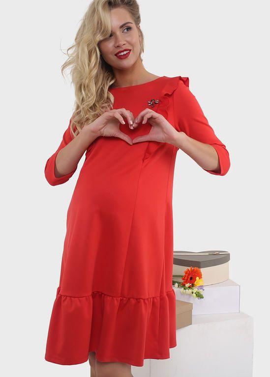"""Платье """"Есения"""" для беременных и кормящих; цвет: красный"""