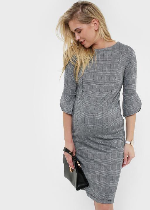"""Платье """"Тиана"""" для беременных и кормящих; цвет: серый"""