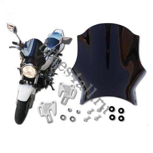Ветровик для круглой фары мотоцикла вид 2