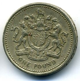 Великобритания 1 фунт 1983