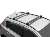 Багажник на крышу Suzuki SX4 2013-..., Lux Bridge, крыловидные дуги (серебристый цвет), крыловидные дуги (черный цвет)