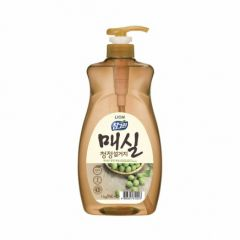 612247 LION Жидкость для мытья посуды с запахом абрикоса Chamgreen Japanese Apricot 1kg refill