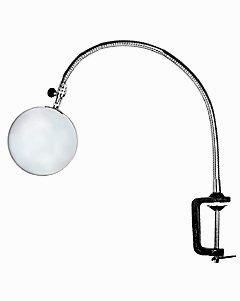 Лупа настольная 3x-100мм на струбцине и гибком держателе