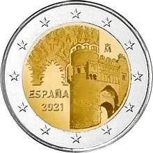Исторический город Толедо  2 евро Испания 2021