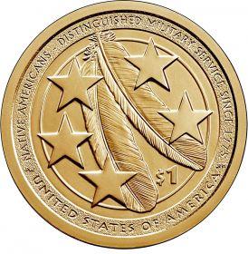 Индейцы в армии США 1 доллар США  2021 Монетный двор на выбор