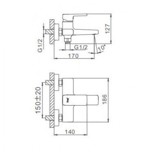 Смеситель для ванны Frap H60 F3260
