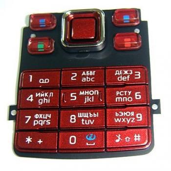Клавиатура Nokia 6300 (red) Аналог