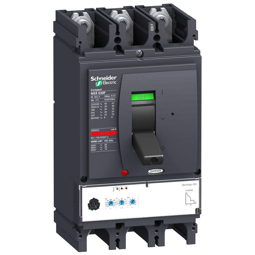 Автоматический выключатель MICROLOGIC 2.3 630A NSX630F